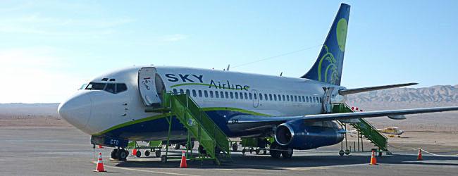 Passagens aéreas baratas dentro do Chile: voe Sky Airline