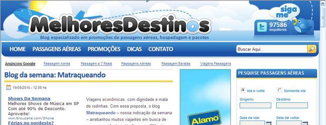Matraqueando é destaque no site Melhores Destinos