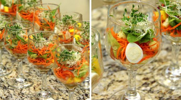 Verrine de salada tropical