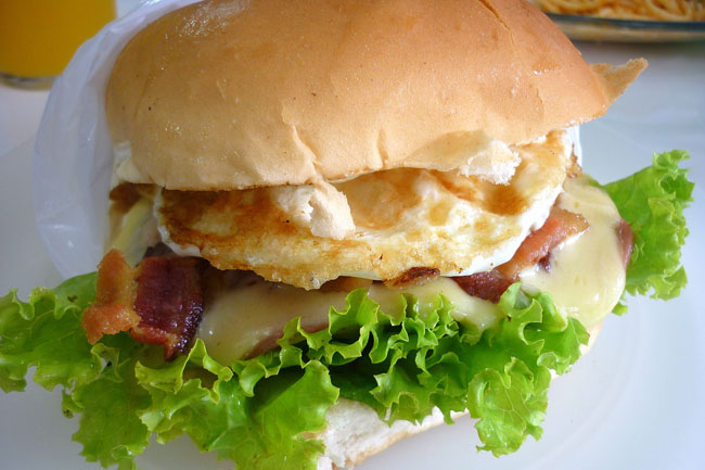 Meu maior pecado: cheese egg bacon