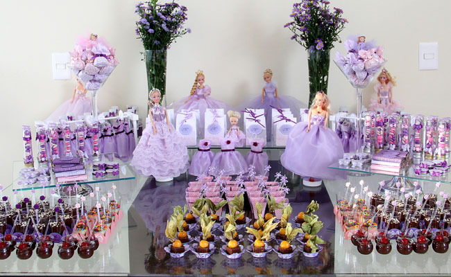 Festa lilás para o aniversário de 3 anos da Princesa Mariana