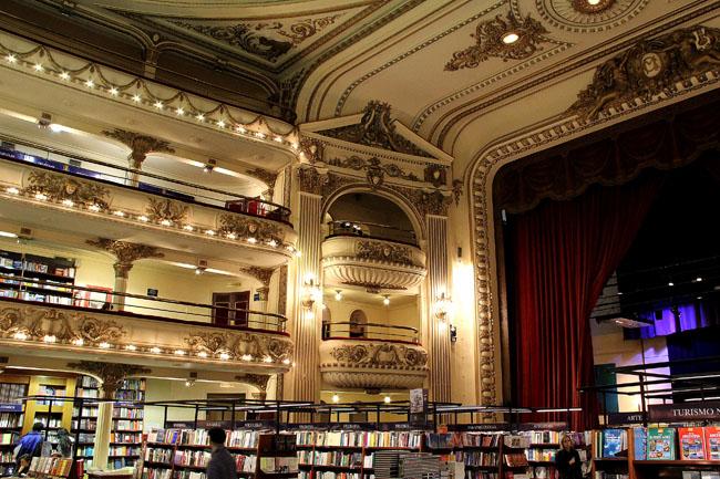 Livraria El Ateneo: se existir outra mais bonita na Argentina, avisem-me!