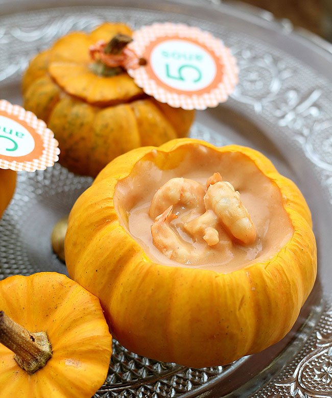 Bobó de Camarão na mini moranga: delícia baiana