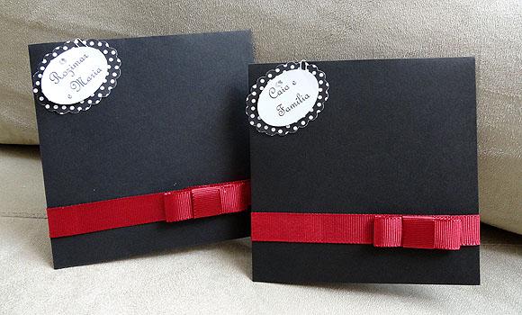 Festa Anos 60 Decoracao Branco Preto Vermelho Convite Envelope