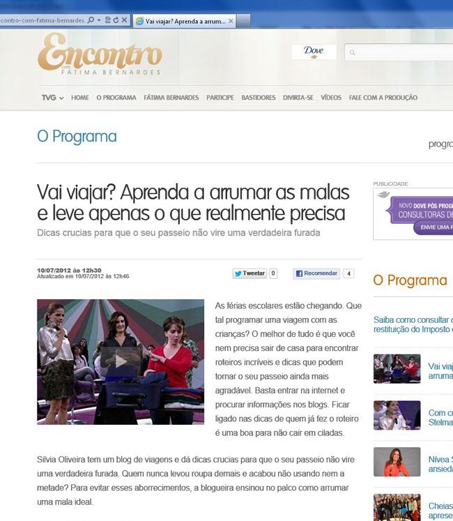 Veja o vídeo da entrevista da Matraca no programa Encontro com Fátima Bernardes