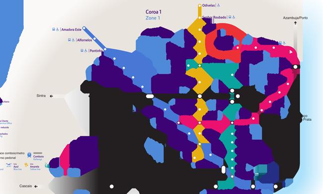 Для просмотра увеличенной схемы - либо нажмите на нее и попадете на сайт лиссабонского метрополитена...