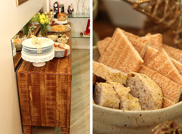 Ceia de Natal Brasileira Cafe Decoracao Dourada Buffet