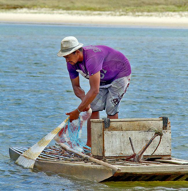 Joao Pessoa Litoral Sul Praias Como chegar Barra de Gramame Pescador 2