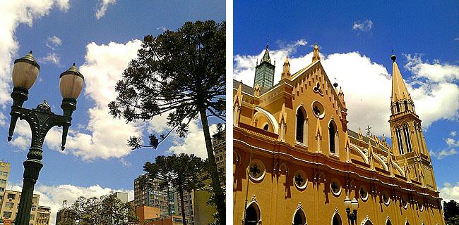 Linha Turismo Curitiba Praca Tiradentes e Catedral