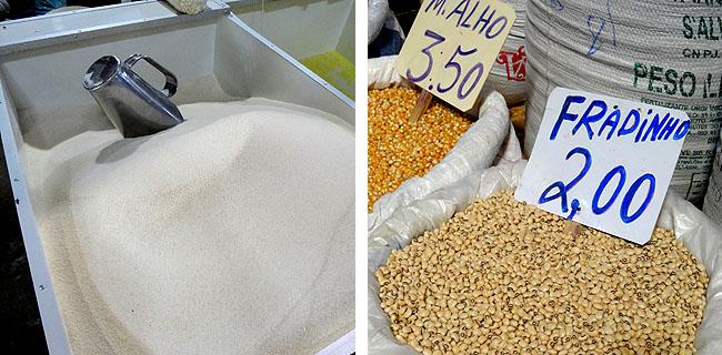Feira de Sao Joaquim Salvador Bahia farinha e fradinho