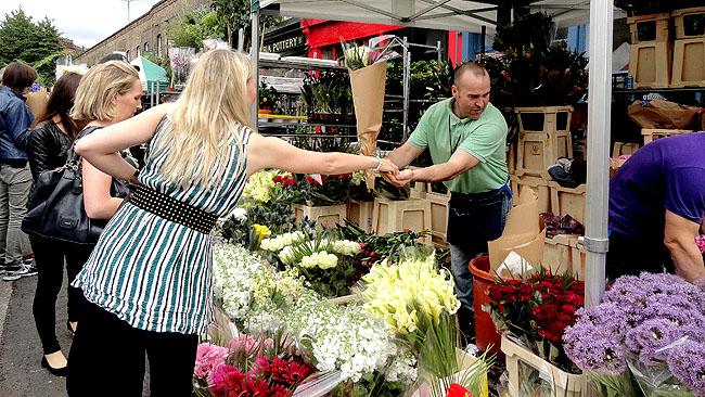 Columbia Road Flower Market Londres Shoreditch 1