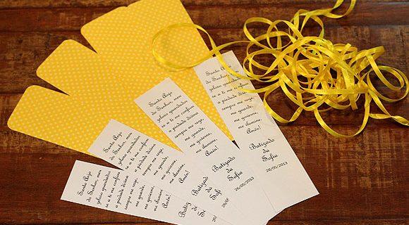 Dicas de lembrancinhas para o batizado amarelo e branco da Sofia