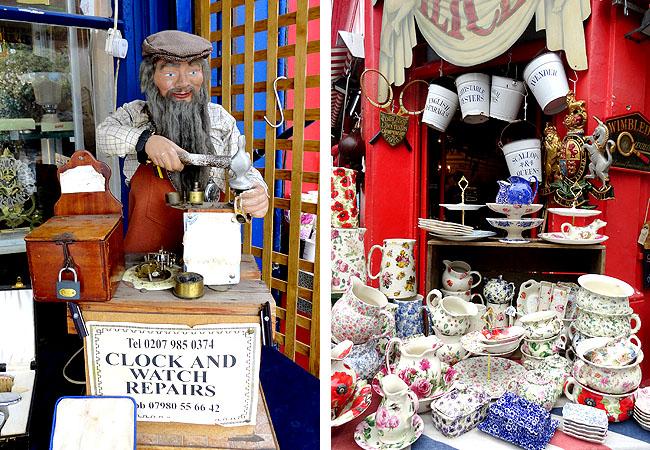 Portobello Road Market Londres Pontos Turisticos Antiguidades