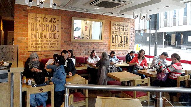 Pret a manger Onde comer bem e barato em Londres 5