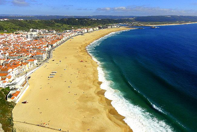 Nazare Portugal Vista da Praia