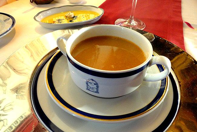 Obidos - Portugal Pousada do Castelo Restaurante Creme de Camarao
