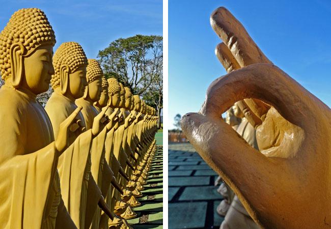 Templo Budista Foz do Iguacu 108 estatuas