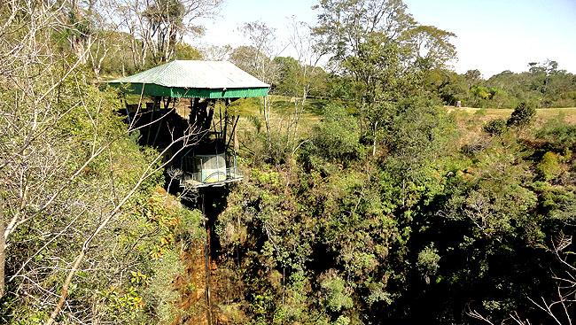 Parque Estadual Vila Velha - Ponta Grossa - Parana - Elevador Furnas