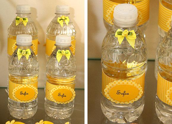 Batizado Amarelo e Branco - Água Personalizada