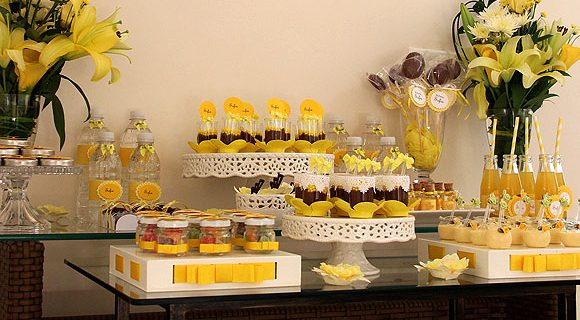 Batizado da Sofia: a mesa de doces montada