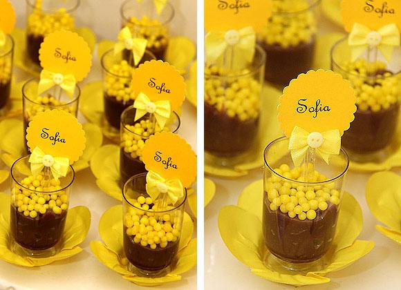 Batizado Amarelo e Branco - Doces no Copinho