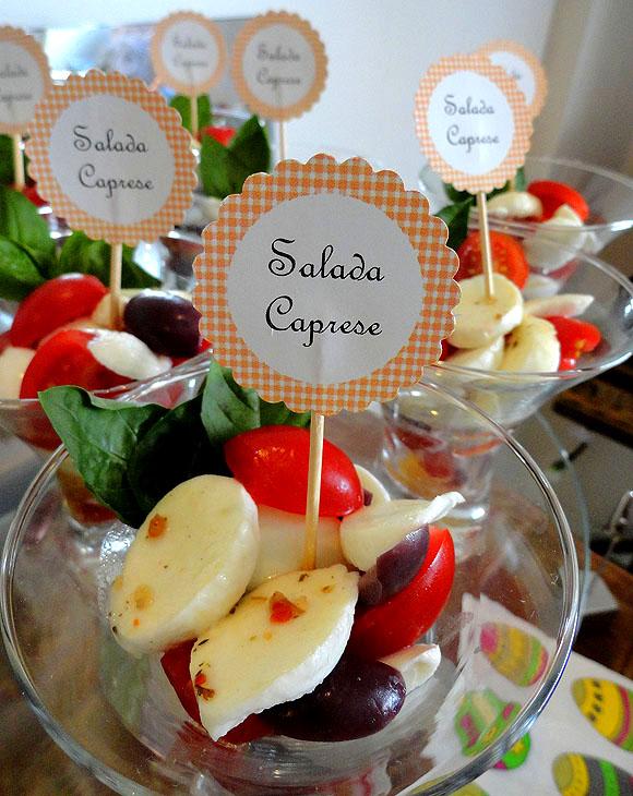 salada caprese verrine