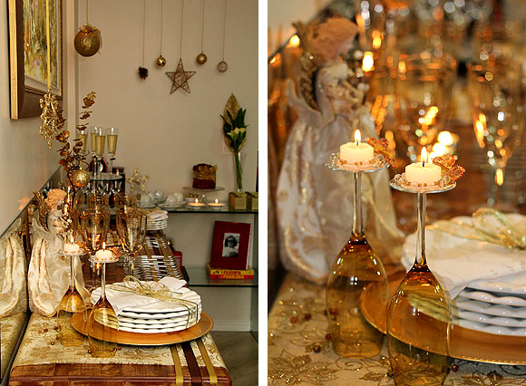 Como Montar Mesa Natal Dourada Barata Detalhes