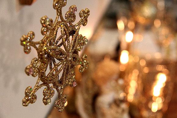 Mesa de Natal Decoracao Barata Dourada Enfeites Natalinos Pendurados Teto