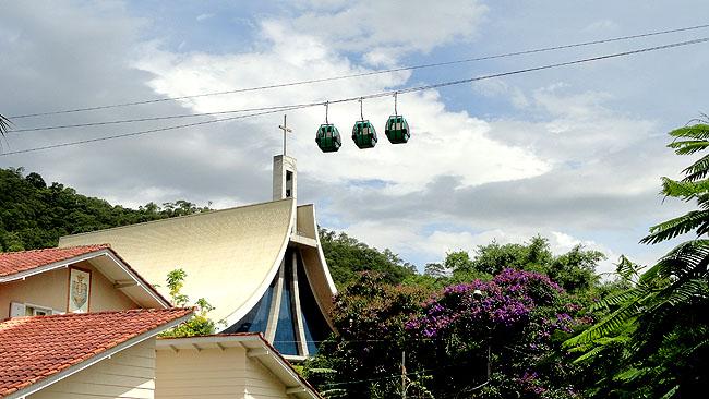 Santuario Santa Paulina Nova Trento SC - Bondinhos Aereos