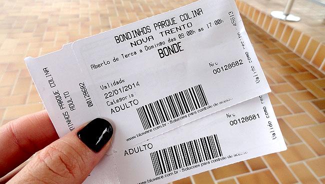 Santuario Santa Paulina Nova Trento SC - Ticket bondinho
