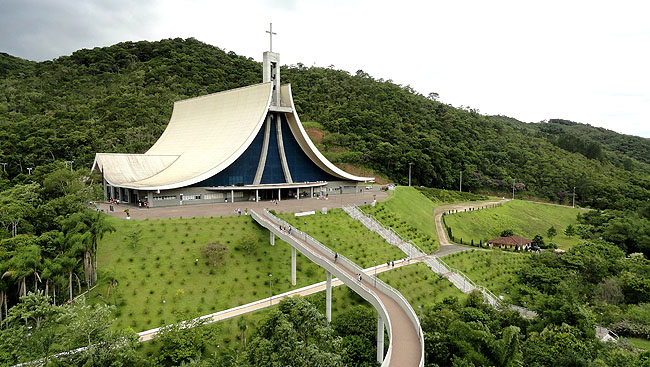 Santuario Santa Paulina Nova Trento SC - Vista Aerea 1