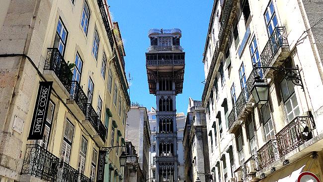 Lisboa bairro a bairro Baixa Elevador de Sta Justa