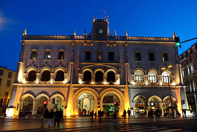 Lisboa bairro a bairro Baixa Estacao de Trem do Rossio