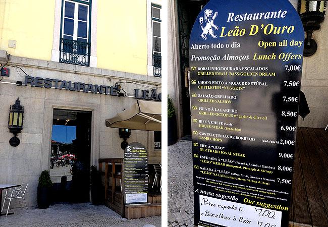 Lisboa bairro a bairro Baixa Restaurante Leao de Ouro