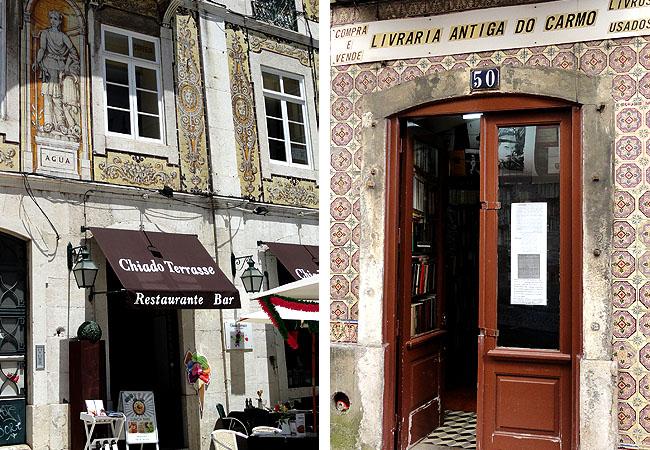 Lisboa bairro a bairro Chiado lojas