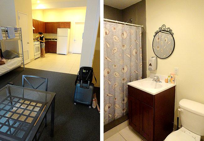 Copia de Hotel bom e barato em Nova York International Students Cozinha e Banheiro