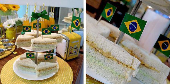 Dicas de decoracao copa do mundo sanduicinhos