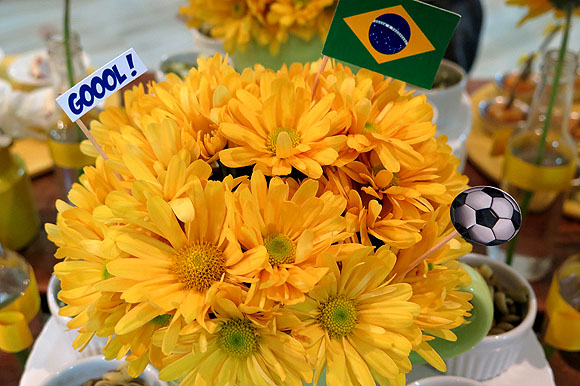Festa Copa do Mundo Decoracao com Flores