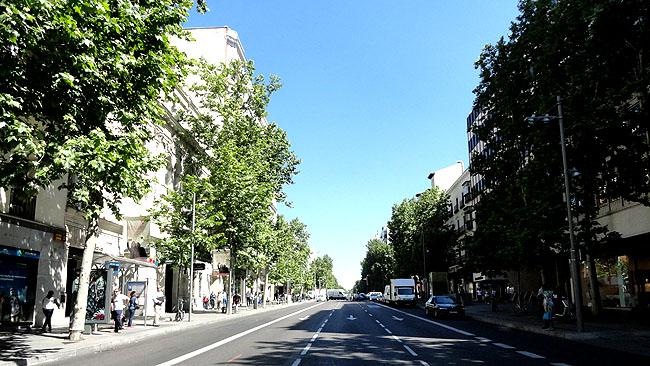 Bairro Salamanca calle Serrano