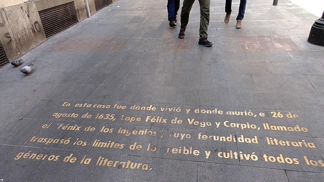 Barrio de las Letras Madri  Calle Cervantes