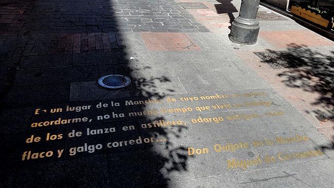 Barrio de las Letras Madri  Calle de las  Huertas Frases