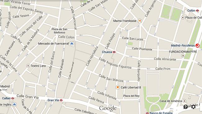 Mapa Chueca malasanas