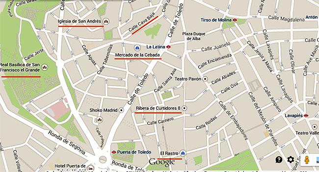 Mapa La Latina