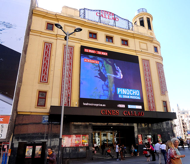 Gran Via Cones de la Plaza Callao