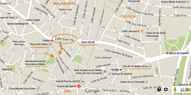 Mapa Gran Via 1