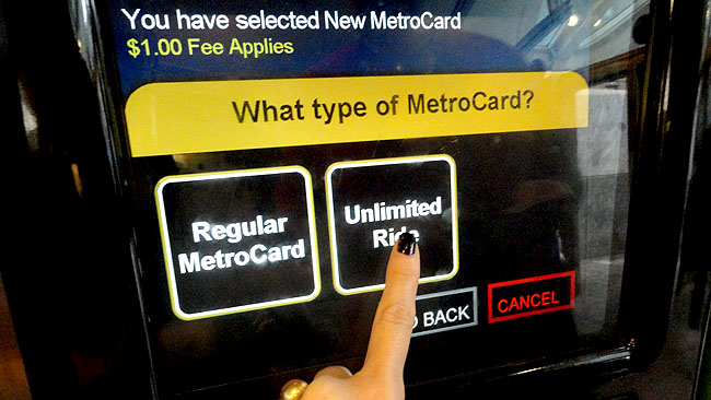 MetroCard Nova York Unlimited Ride