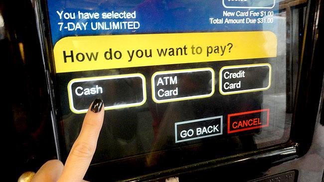 MetroCard Nova York cash
