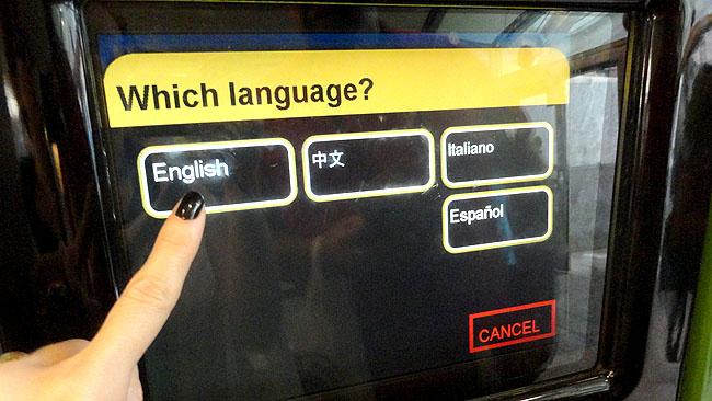 MetroCard Nova York idiomas