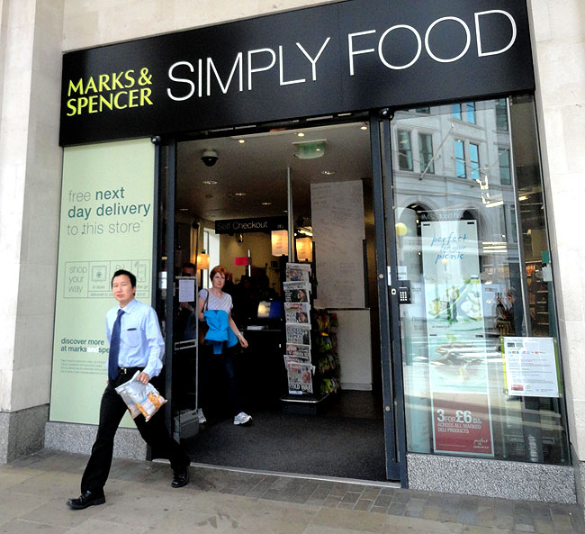 Supermercados em Londres Mark and Spencer Simply Food
