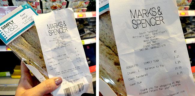 Supermercados em Londres Mark and Spencer
